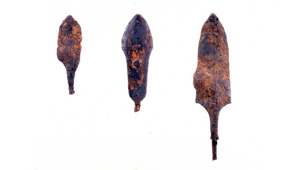 盐壶西遗迹 铁镞/由兵库县立考古博物馆提供